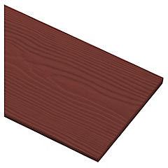 6 mm 0.19 x 3.66 m Siding fibro cemento diseño madera, color Raulí