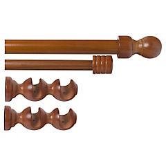 Kit de instalación de cortina 8 piezas madera