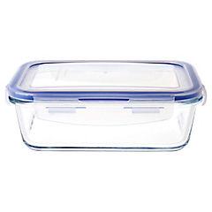 Contenedor de alimentos vidrio 0,83 litros 18,3x12,5x5,8 cm