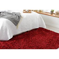 Alfombra Shaggy 160x230 cm rojo
