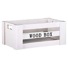Caja decorativa 10,8x25,2 cm madera blanco