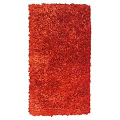 Alfombra Shaggy 60x120 cm rojo