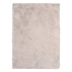 Alfombra Shaggy 140x200 cm beige