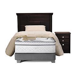 Box Spring 1,5 Plazas + Muebles Doménico + Textil
