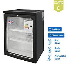 Visi-Cooler 1 puerta 120 litros negro