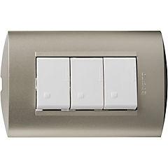 Interruptor triple 9/32 10 A blanco
