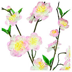 Flor de durazno artificial 140 cm rosado