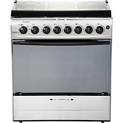 Cocina a gas 6 quemadores 84 litros inox