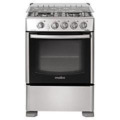 Cocina a gas 4 quemadores 66 litros silver