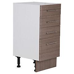 Mueble base 40x48 cm melamina teca