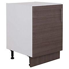 Mueble base 60x48 cm melamina teca