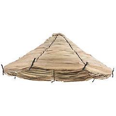 Paraguas de totora grande Beige