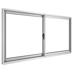 Ventana corredera aluminio intermedio 100x60 cm mate