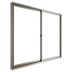 Ventana corredera aluminio intermedio 121x100 cm titanio