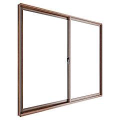 Ventana corredera aluminio intermedio 121x100 cm madera