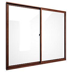 Ventana corredera aluminio intermedio 140x120 cm madera