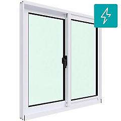 Ventana corredera aluminio intermedio termopanel 60x60 cm blanco