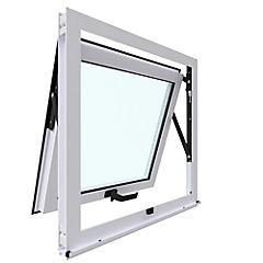 Ventana proyectante aluminio premiun 60x60 cm blanco