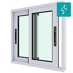 Ventana corredera aluminio premiun termopanel 2 hojas 60x60 cm blanco