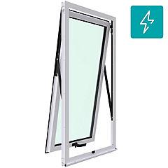 Ventana proyectante aluminio premiun termopanel 1 hoja 60x120 cm blanco