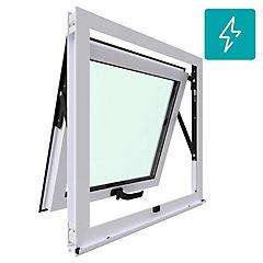 Ventana proyectante aluminio premiun termopanel 1 hoja 60x60 cm blanco