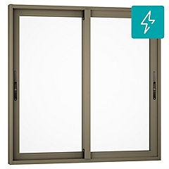 Ventana corredera aluminio premiun termopanel 2 hojas 100x100 cm titanio