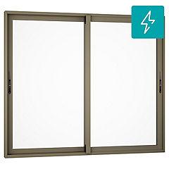 Ventana corredera aluminio premiun termopanel 2 hojas 140x120 cm titanio