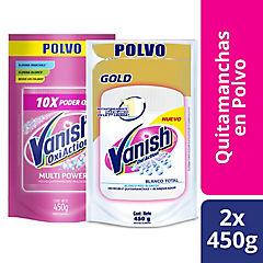 Pack 2 Vanis Blanco Rosa Polvo 450
