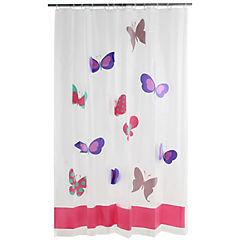 Cortina de baño Mariposas poliéster 180x180 cm