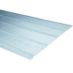 0,7mm x 0,90x2,00 m plancha traslucida 5V natural
