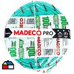 Cable eléctrico libre de halógenos 2,5 mm2 100 m Verde