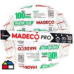 Cable eléctrico libre de halógenos 2,5 mm2 100 m Blanco