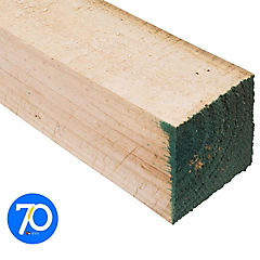 4x4''x3,2 m Pino dimensionado verde