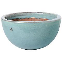 Macetero de cerámica 24x14 cm azul