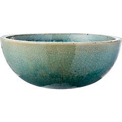 Macetero de cerámica 39x15 cm Azul