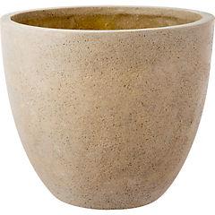 Macetero de cerámica 28x27 cm arena