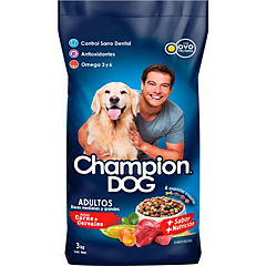 Alimento seco para perro adulto 3 kg carne y cereales
