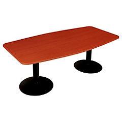 Mesa de oficina rectangular 75x150x180 cm cedro
