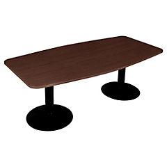 Mesa de oficina rectangular 75x150x180 cm chocolate
