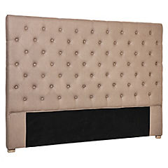 Respaldo para cama 120x160x8 cm taupé
