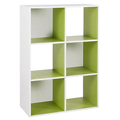 Estante 6 repisas 90x29x60 cm verde
