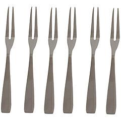 Set de tenedores acero inoxidable 6 unidades Plateado