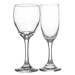 Set de copas de champagne vidrio 12 unidades