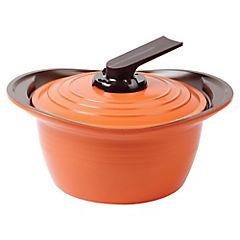 Olla baquelita cerámica 24 cm 4,6 litros Naranjo