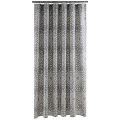 Cortina de baño Destellos algodón 180x178 cm gris
