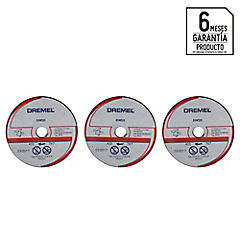 Set de discos de corte para metal 3 unidades
