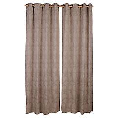 Set de cortinas Flores 135x230 cm 2 paños chocolate