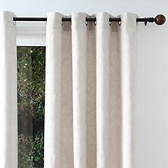 Set de cortinas tela 135x230cm Flores beige