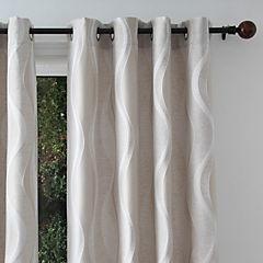 Set de cortinas Ondas 135x230 cm 2 paños beige
