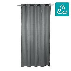 Cortina Black Out texturada 140x220 cm grafito